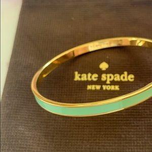 "Kate Spade NY ""Turn the Tides"" Mint & Gold Bangle"